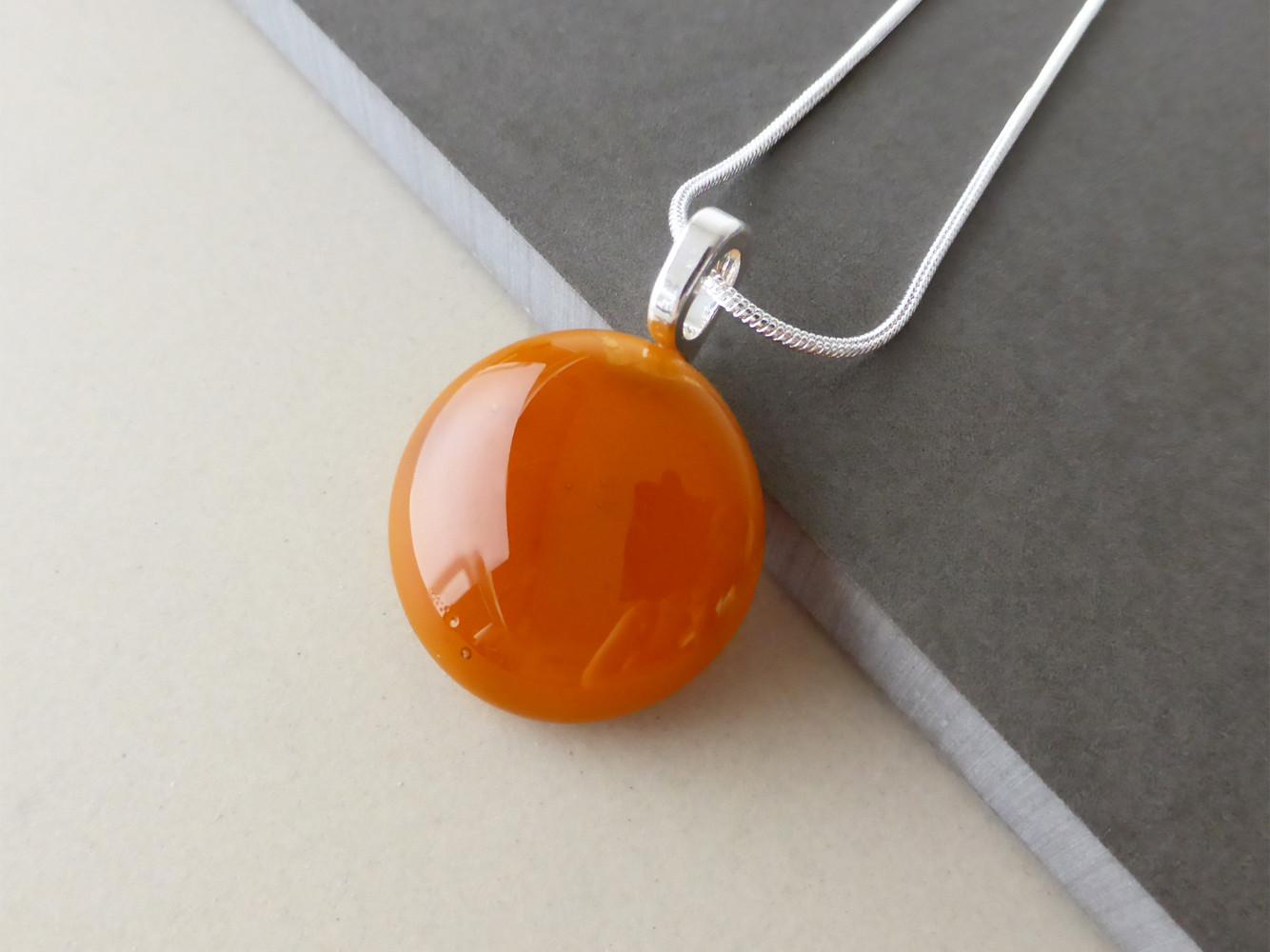 Deep Orange Dot Pendant