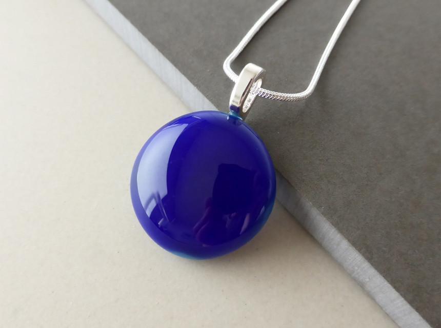 Deep Blue Dot Pendant
