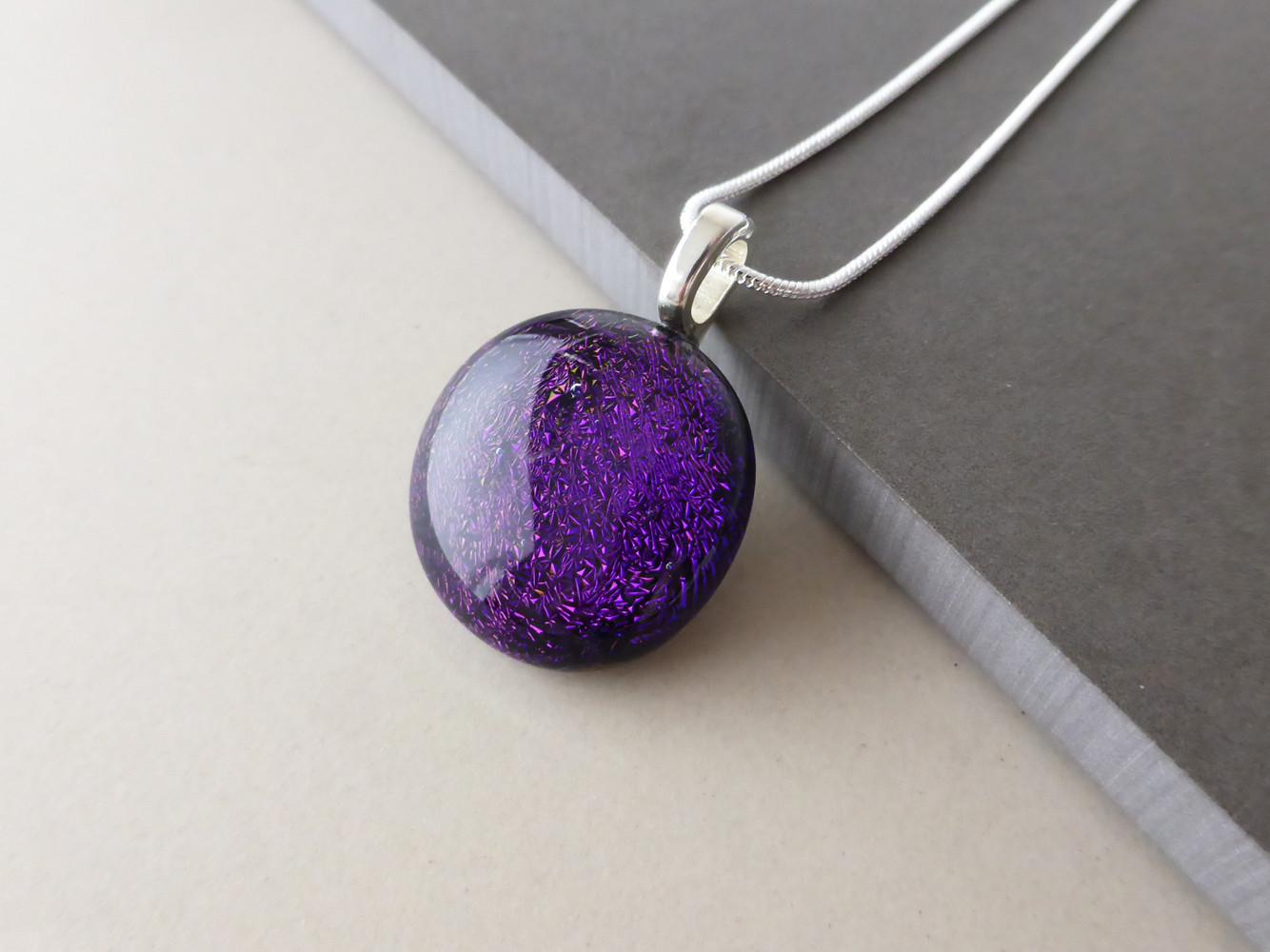 Purple Sparkly Dot
