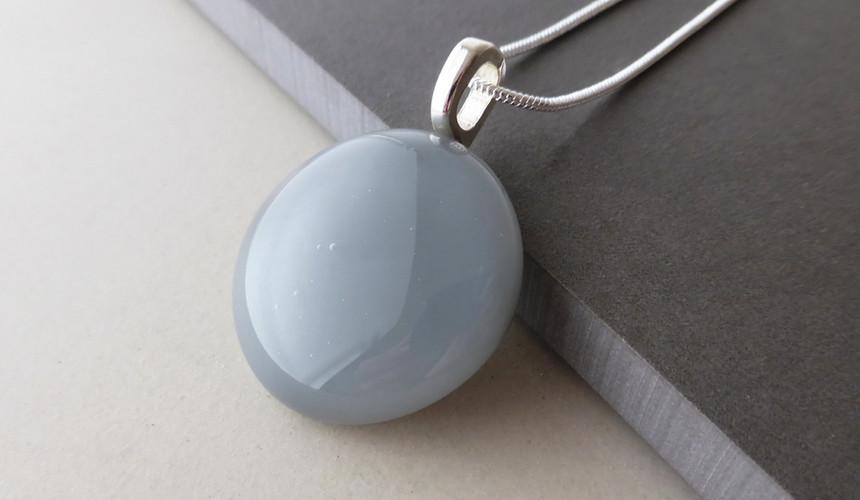 Grey Dot Pendant
