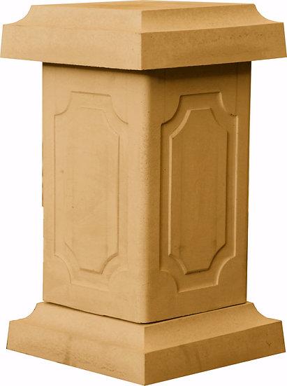 Balustrade pedestal in buff / sandstone
