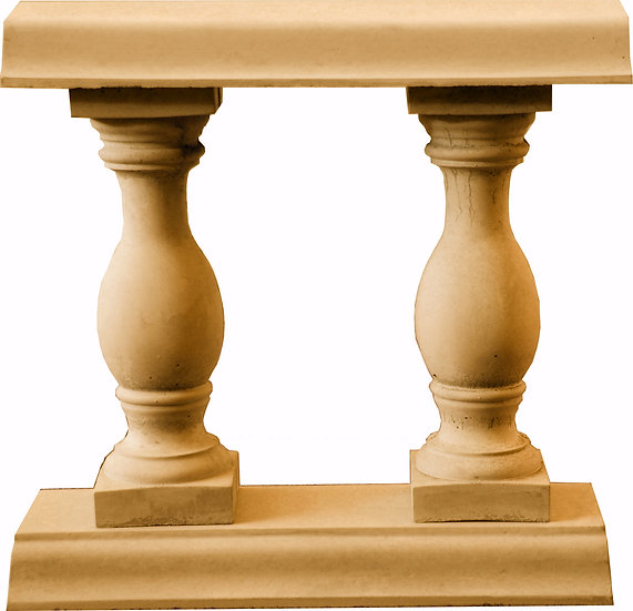 Balustrade section in buff / sandstone