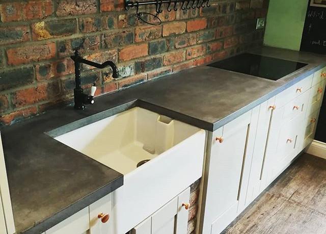 Polished concrete worktop