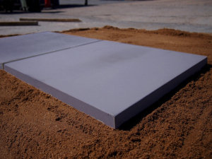smooth slab in slate
