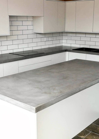 Polished concrete Island and worktops