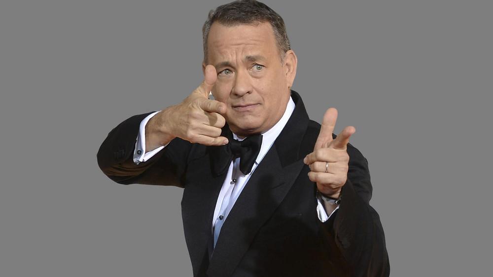 Tom Hanks pointing
