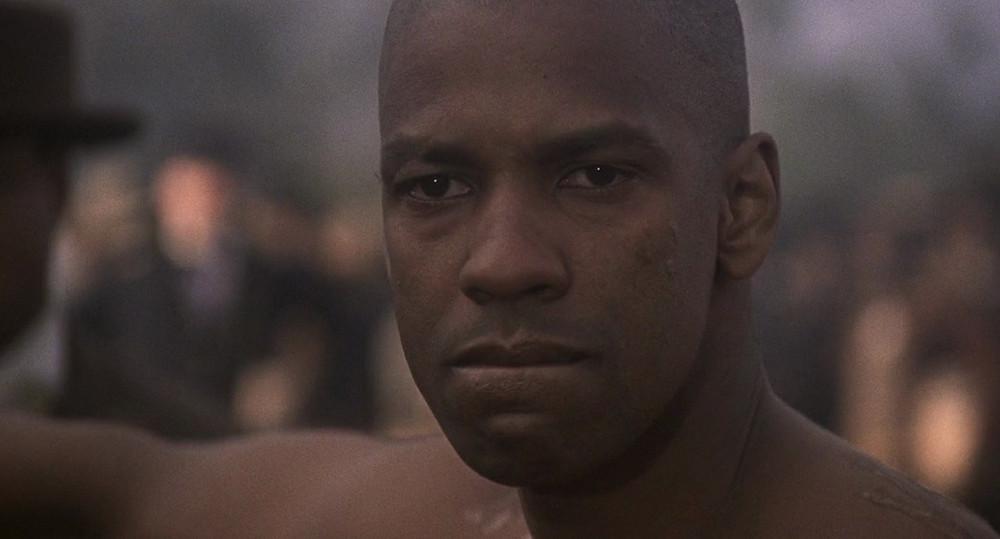 Denzel Washington staring