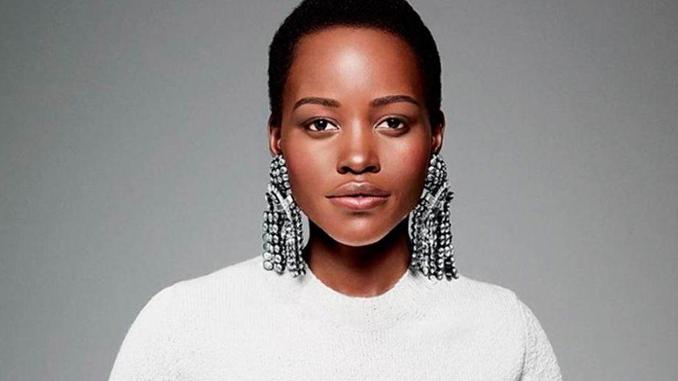 Lupita Nyong'o looking