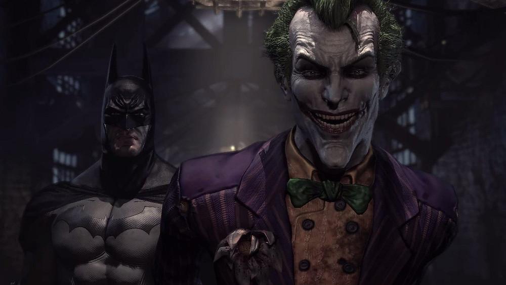 The Joker In front of Batman