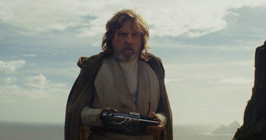 Luke Skywalker Holding Lightsaber
