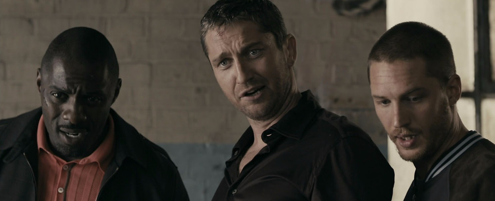 Idris Elba, Gerard Butler, Tom Hardy looking