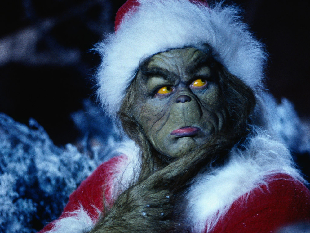 The Grinch posing