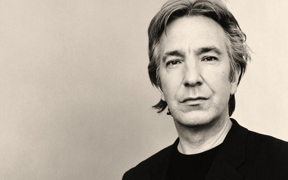 Alan Rickman looking