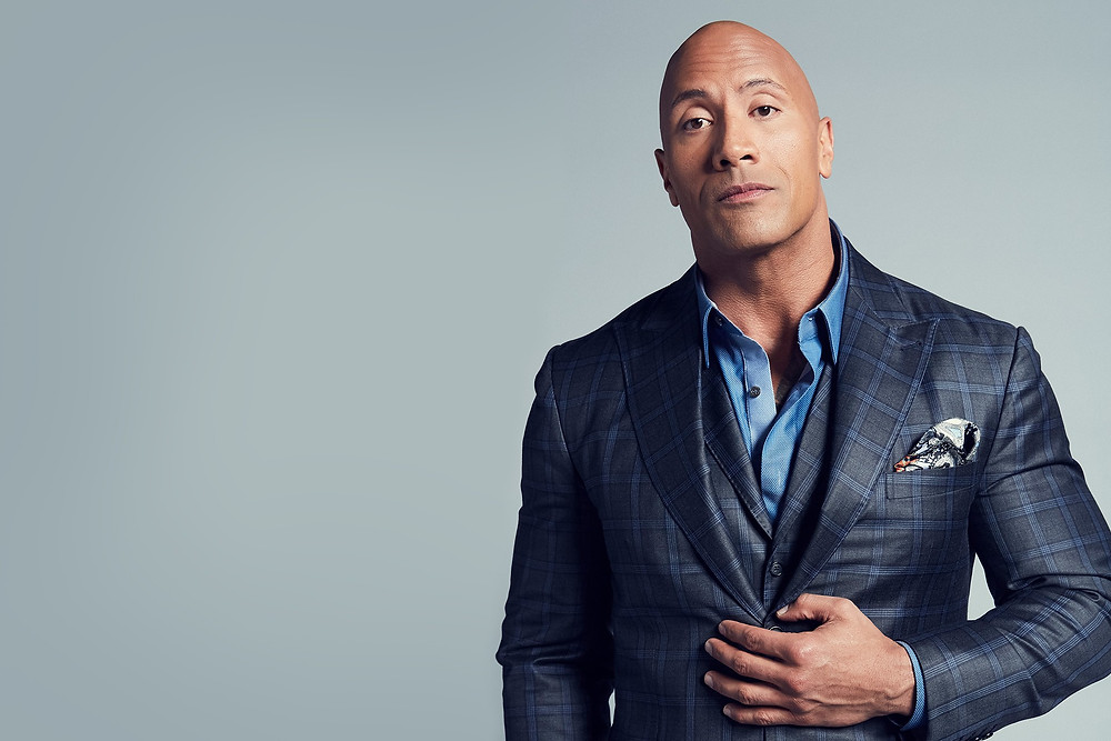 The Rock in a suit
