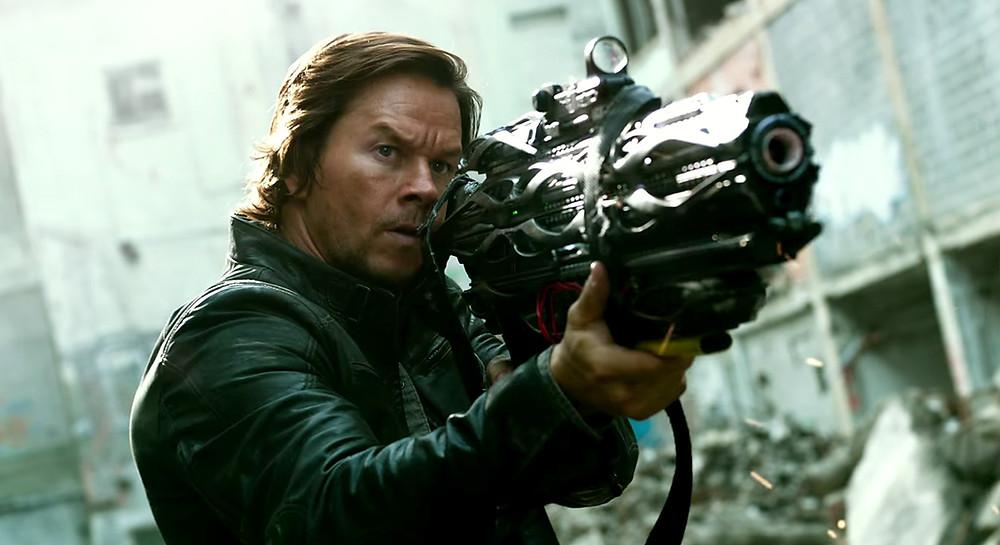 Mark Wahlberg holding gun