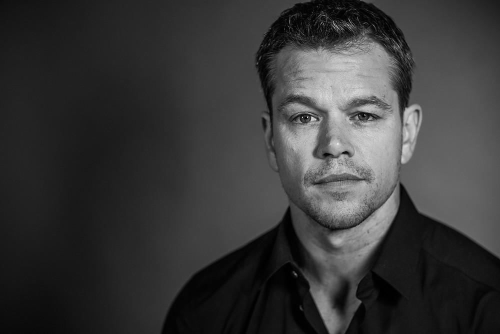 Matt Damon staring