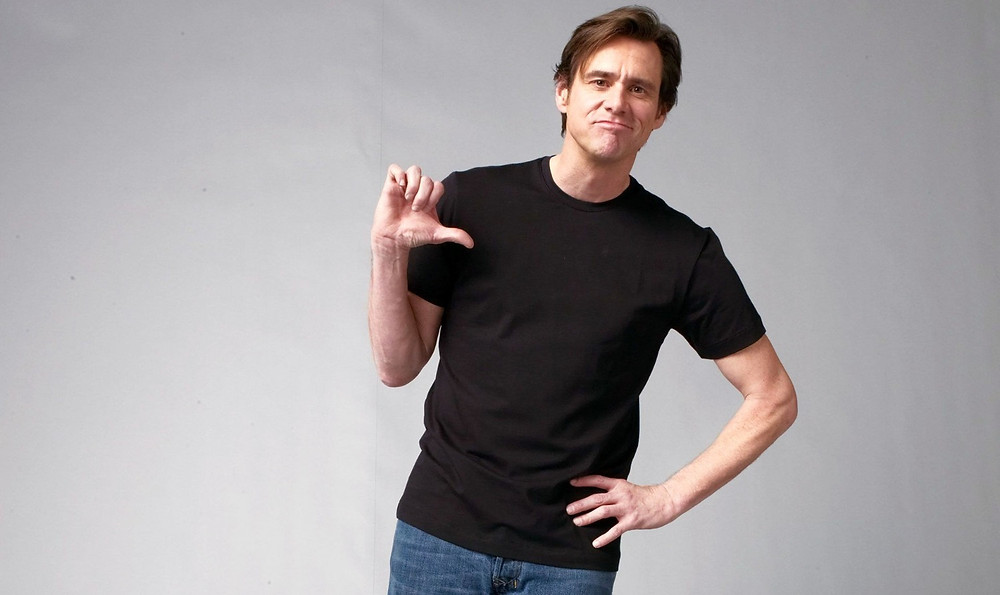 Jim Carrey thumbs down