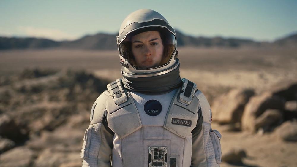 Anne Hathaway space suit looking