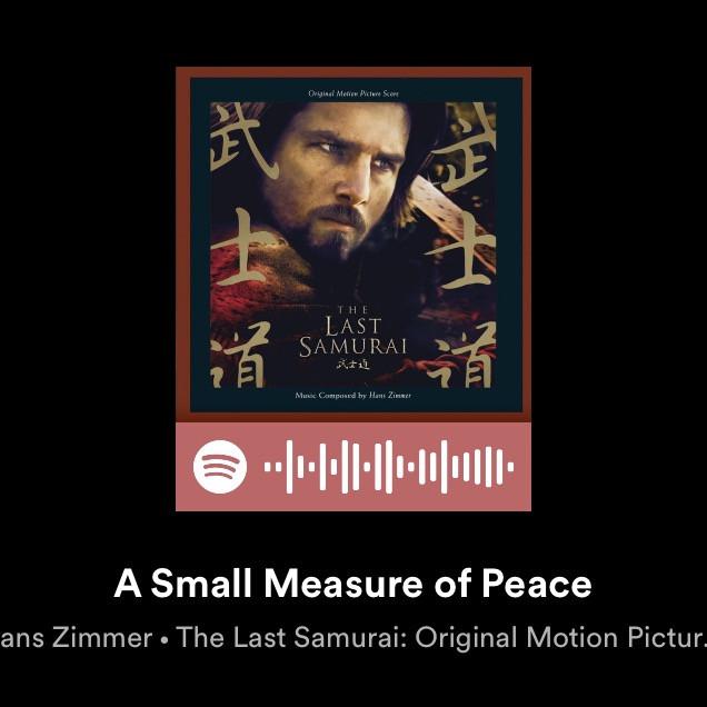 small measure of peace