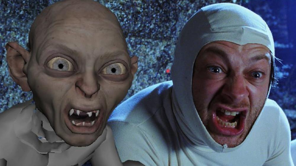 Andy Serkis Gollum screaming