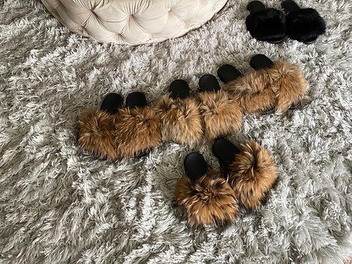 100% Real Fur slides