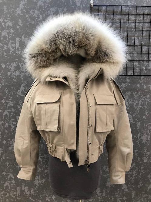 Full Fur Cropped Parka