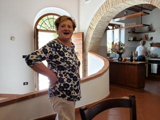 Our Chef Mirella at the Santa Giulia winery