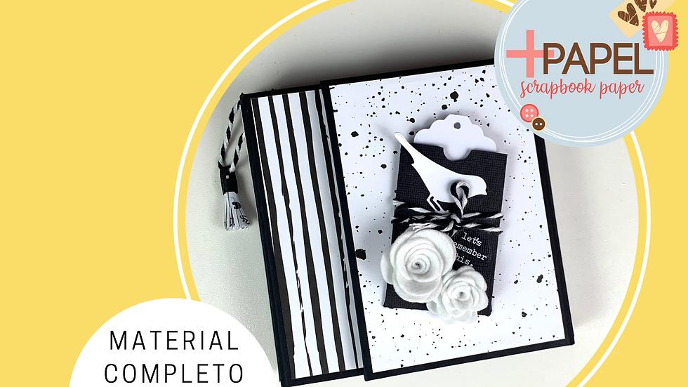 Kit Álbum Preto & Branco - Material e Passo a Passo