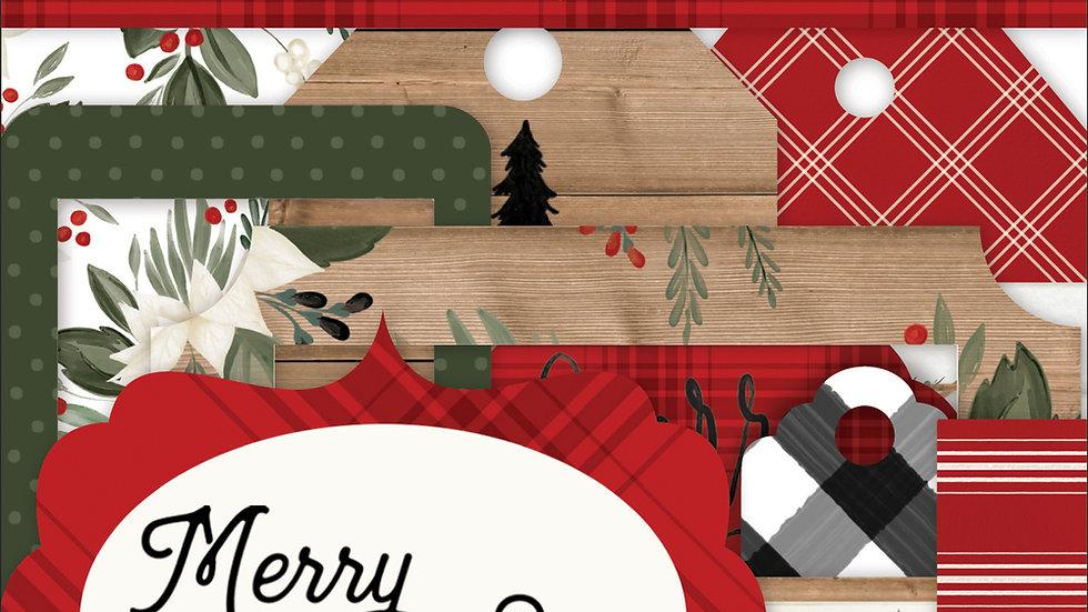 33 Die Cut Molduras & Tags - Coleção Farmhouse Christmas - Carta Bella