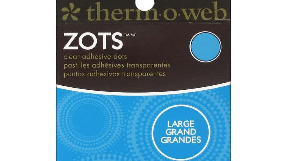 Zots - Rolo de Círculos Adesivos Transparente
