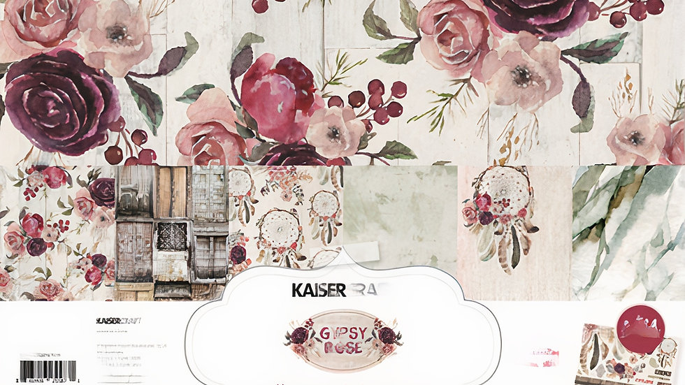 Kit Kaisercraft Coleção GYPSY ROSE