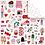 Thumbnail: Kit de 8 Papéis - Coleção Espalhando Amor - Juju Scrapbook