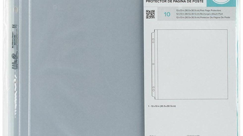 10 Protetores Plástico de páginas We R Memory Keepers