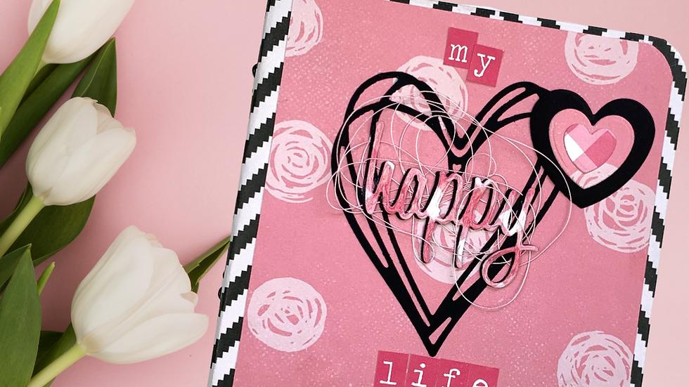 Álbum Rosa, Preto e Branco -  My Happy Life