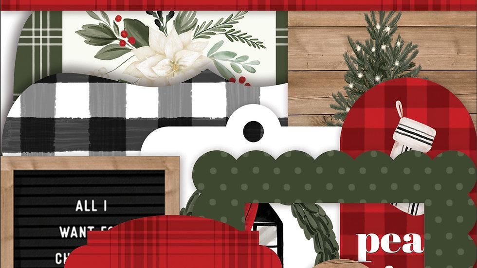 33 Die Cut Recortes/Ephemera  - Coleção Farmhouse Christmas - Carta Bella