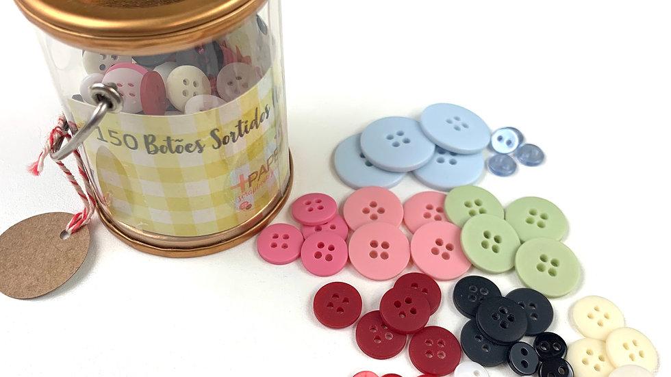 150 Botões Sortidos (tamanhos e cores)