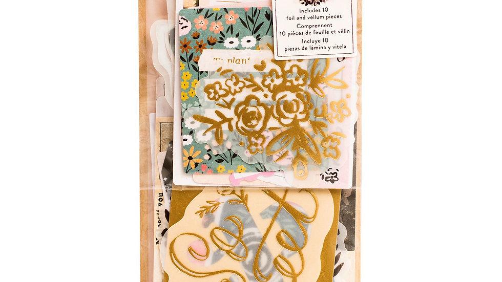 44 Die Cuts Florais - Coleção Marigold - Crate Paper