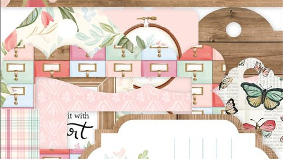 33 Die Cuts Frames (molduras) & Tags - Coleção Farmhouse Market
