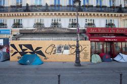 Orgueil 25 /50 I & II, 7 péchés du capitalisme, xylogravure, Gare du Nord, 2021