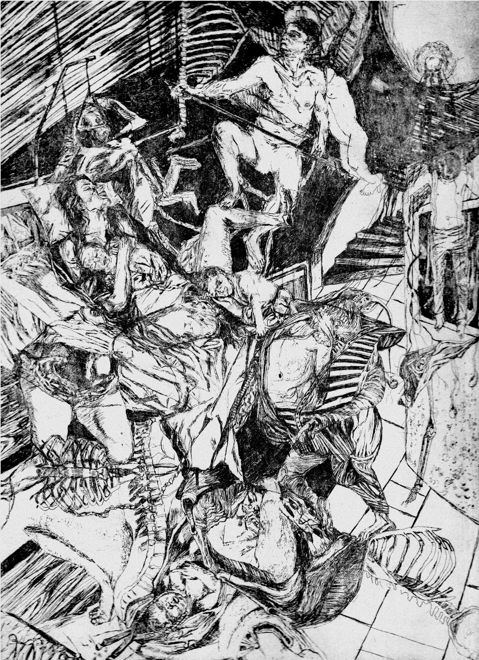 Gestation # 3, etching, 30 x 20 cm, 2014