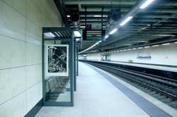 Orgueil 64/100, xylographie, 100 x 70 cm,Gare de Bruxelles Schuman.