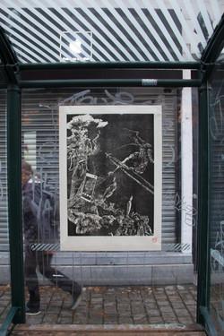 Orgueil 36-100, xylographie, 70x 100 cm, Janson.