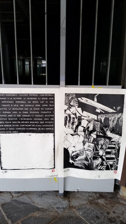 Paresse I & II 8/50 Passage des Lingères affiché par Maryline Piedade