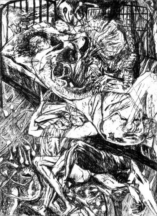Gestation # 1, etching, 30 x 20 cm, 2014