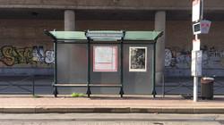 Orgueil 14/100, xylographie, 100 x 70 cm, Avenue du roi.
