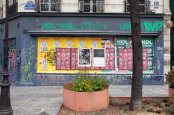 Orgueil 9 /50 I & II, 7 péchés du capitalisme, xylogravure, rue de Turbigo, 2021