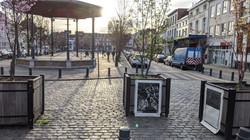 Envie 6/100, xylographie, 70 x 100 cm, Place Saint-Denis, affiché par Hélène