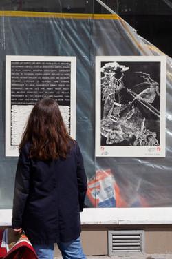 Orgueil 29 /50 I & II, 7 péchés du capitalisme, xylogravure, Rue du Faubourg Saint-Denis, 2021