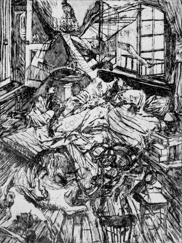 Gestation # 4, etching, 30 x 20 cm, 2014