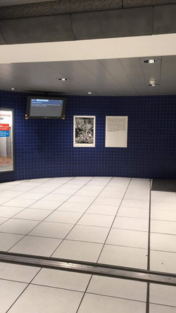 Gourmandise I & II 34/100, xylographie, 70 x 100 cm, Gare du Luxembourg, 2019